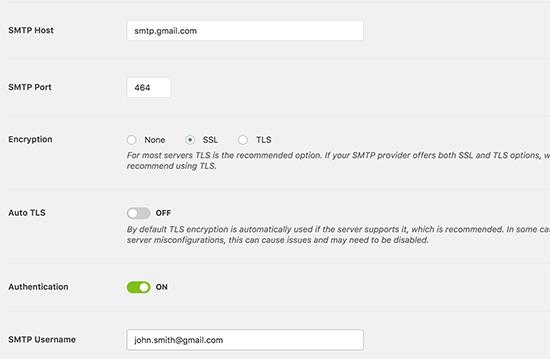 WP Mail SMTP插件的Gmail SMTP設置