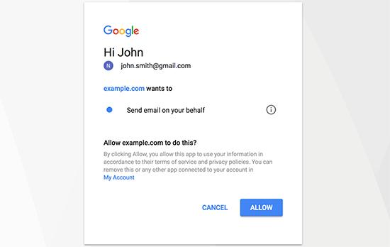 允許Gmail
