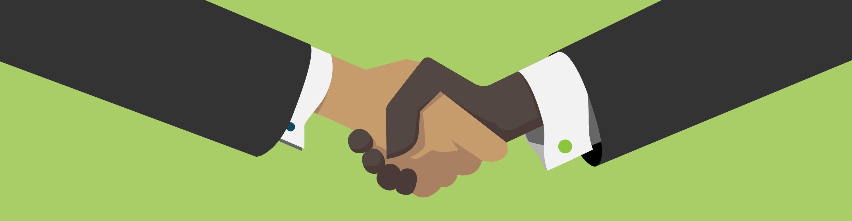 Illustration of Business Handshake